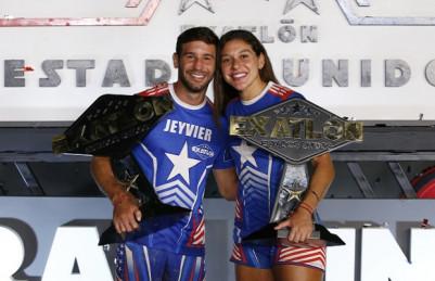 Norma Palafox y Jeyvier Cintrón celebran su victoria